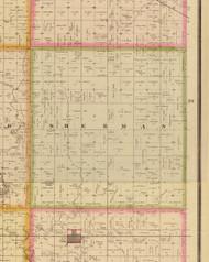 Sherman, Iowa 1883 Old Town Map Custom Print - Story Co.