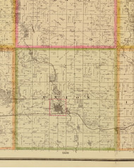 Union, Iowa 1883 Old Town Map Custom Print - Story Co.