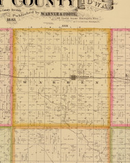 Warren, Iowa 1883 Old Town Map Custom Print - Story Co.