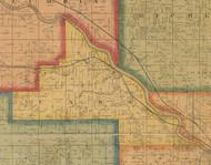 Cass, Iowa 1870 Old Town Map Custom Print - Wapello Co.