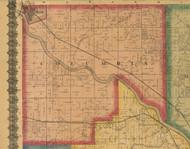 Columbia, Iowa 1870 Old Town Map Custom Print - Wapello Co.