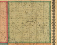 Competine, Iowa 1870 Old Town Map Custom Print - Wapello Co.