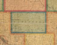 Dahlonega, Iowa 1870 Old Town Map Custom Print - Wapello Co.