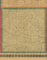 Green, Iowa 1870 Old Town Map Custom Print - Wapello Co.