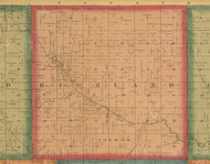 Highland, Iowa 1870 Old Town Map Custom Print - Wapello Co.