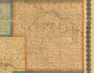 Pleasant, Iowa 1870 Old Town Map Custom Print - Wapello Co.