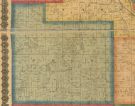 Polk, Iowa 1870 Old Town Map Custom Print - Wapello Co.