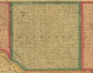 Richland, Iowa 1870 Old Town Map Custom Print - Wapello Co.