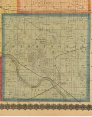 Washington, Iowa 1870 Old Town Map Custom Print - Wapello Co.