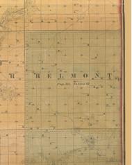 Belmont, Iowa 1859 Old Town Map Custom Print - Warren Co.
