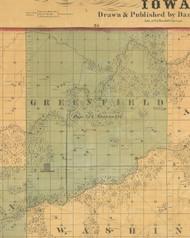 Greenfield, Iowa 1859 Old Town Map Custom Print - Warren Co.