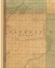 Jackson, Iowa 1859 Old Town Map Custom Print - Warren Co.