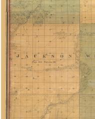 Jackson, Iowa 1859 Old Town Map Custom Print - Warren Co.