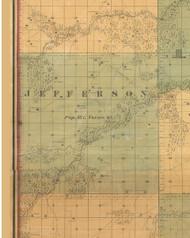 Jefferson, Iowa 1859 Old Town Map Custom Print - Warren Co.