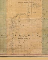 Liberty, Iowa 1859 Old Town Map Custom Print - Warren Co.