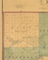 Linn, Iowa 1859 Old Town Map Custom Print - Warren Co.