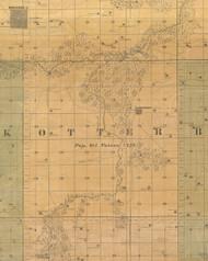 Otter, Iowa 1859 Old Town Map Custom Print - Warren Co.
