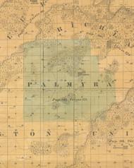 Palmyra, Iowa 1859 Old Town Map Custom Print - Warren Co.