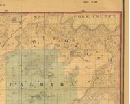 Richland, Iowa 1859 Old Town Map Custom Print - Warren Co.