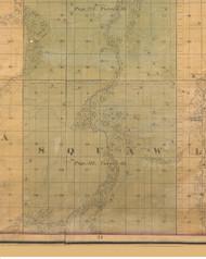 Squaw, Iowa 1859 Old Town Map Custom Print - Warren Co.