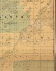 Union, Iowa 1859 Old Town Map Custom Print - Warren Co.