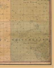 White Breast, Iowa 1859 Old Town Map Custom Print - Warren Co.