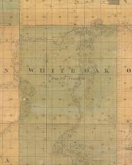 White Oak, Iowa 1859 Old Town Map Custom Print - Warren Co.