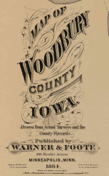 Title of Source Map - Woodbury Co., Iowa 1884 - NOT FOR SALE - Woodbury Co.