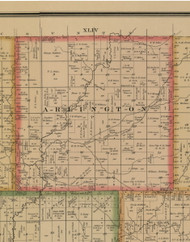 Arlington, Iowa 1884 Old Town Map Custom Print - Woodbury Co.