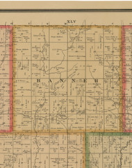 Banner, Iowa 1884 Old Town Map Custom Print - Woodbury Co.