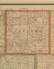 Concord, Iowa 1884 Old Town Map Custom Print - Woodbury Co.