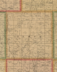 Floyd, Iowa 1884 Old Town Map Custom Print - Woodbury Co.