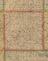 Grant, Iowa 1884 Old Town Map Custom Print - Woodbury Co.