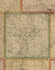 Kedron, Iowa 1884 Old Town Map Custom Print - Woodbury Co.