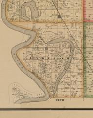 Lakeport, Iowa 1884 Old Town Map Custom Print - Woodbury Co.