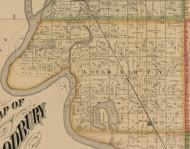 Liberty, Iowa 1884 Old Town Map Custom Print - Woodbury Co.