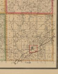 Liston, Iowa 1884 Old Town Map Custom Print - Woodbury Co.