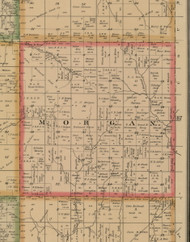 Morgan, Iowa 1884 Old Town Map Custom Print - Woodbury Co.