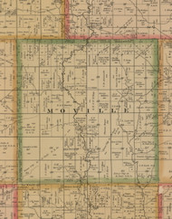 Moville, Iowa 1884 Old Town Map Custom Print - Woodbury Co.