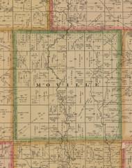 Moville, Iowa 1884 Old Town Map Custom Print - Woodbury Co.