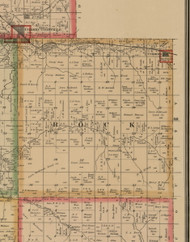 Rock, Iowa 1884 Old Town Map Custom Print - Woodbury Co.