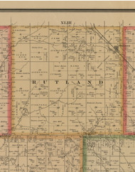 Rutland, Iowa 1884 Old Town Map Custom Print - Woodbury Co.