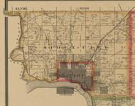 Sioux Coty, Iowa 1884 Old Town Map Custom Print - Woodbury Co.