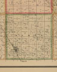 Sloan, Iowa 1884 Old Town Map Custom Print - Woodbury Co.