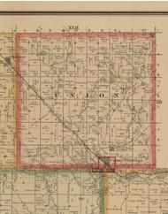 Union, Iowa 1884 Old Town Map Custom Print - Woodbury Co.