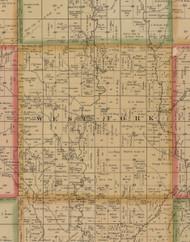 West Fork, Iowa 1884 Old Town Map Custom Print - Woodbury Co.