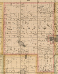 Belmond, Iowa 1885 Old Town Map Custom Print - Wright Co.