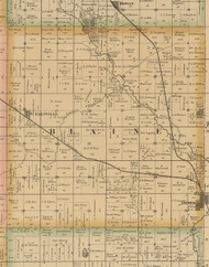 Blaine, Iowa 1885 Old Town Map Custom Print - Wright Co.