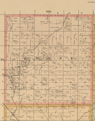 Boone, Iowa 1885 Old Town Map Custom Print - Wright Co.