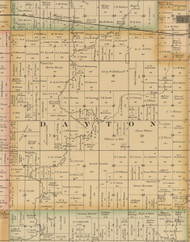 Dayton, Iowa 1885 Old Town Map Custom Print - Wright Co.